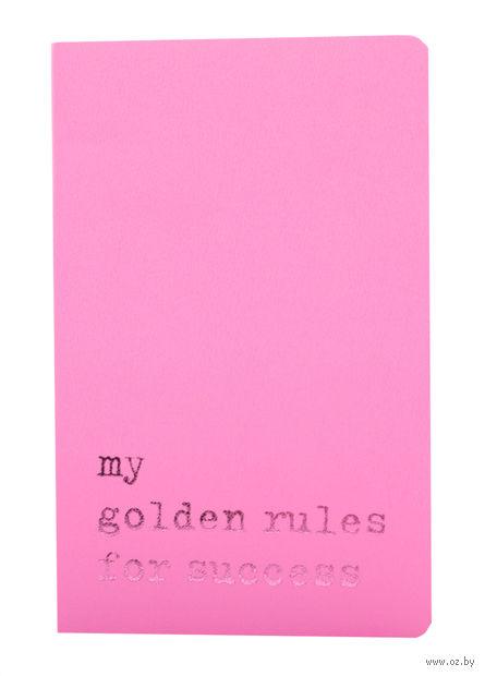 """Записная книжка Молескин """"Volant. My Golden Rules for Success"""" нелинованная (карманная; мягкая светло-розовая обложка)"""