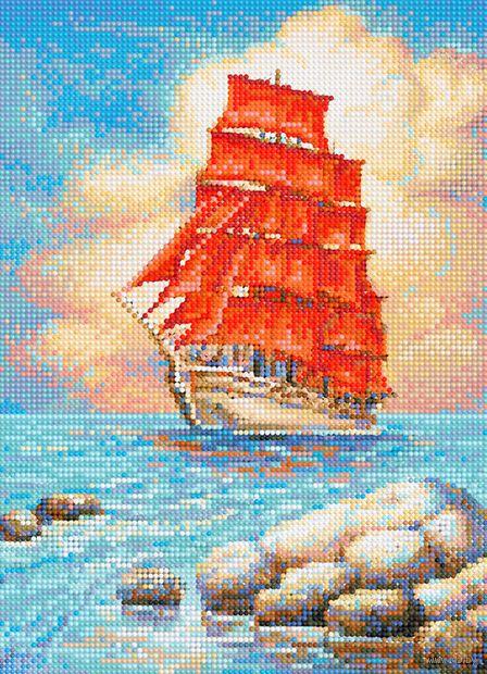 "Алмазная вышивка-мозаика ""Алые паруса"" (360х260 мм) — фото, картинка"