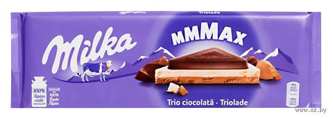 "Шоколад молочный ""Milka. Три шоколада"" (280 г) — фото, картинка"