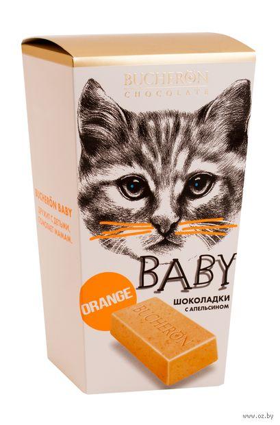 """Шоколад белый """"Bucheron Baby. С кусочками апельсина"""" (171 г) — фото, картинка"""