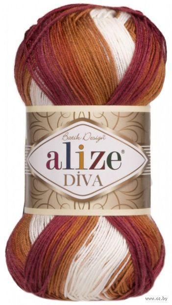 """Пряжа """"ALIZE. Diva Batik Design № 7107"""" (100 г; 350 м; секционный) — фото, картинка"""