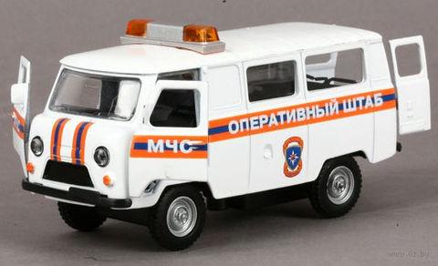 """Модель машины """"УАЗ 39625. МЧС оперативный штаб"""" (масштаб: 1/43)"""