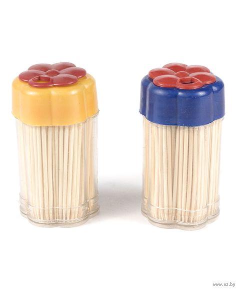 Набор зубочисток деревянных (250 шт) в пластмассовых подставках (2 шт) (арт. GL027A)