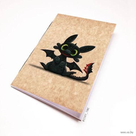 """Блокнот крафт """"Как приручить дракона"""" (А5; арт. 964) — фото, картинка"""