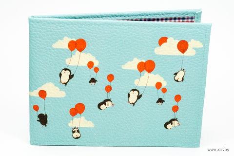"""Обложка для зачетной книжки """"Пингвинчики"""" — фото, картинка"""