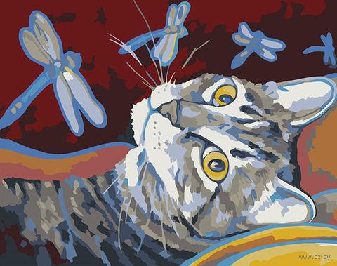 "Картина по номерам ""Арсений и стрекозы"" (165х130 мм) — фото, картинка"