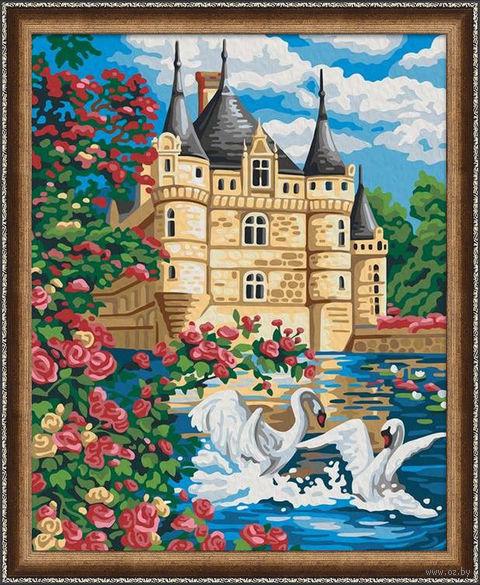 """Картина по номерам """"Лебеди у замка"""" (400х500 мм) — фото, картинка"""