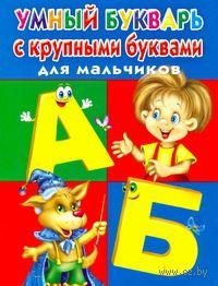Умный букварь с крупными буквами для мальчиков. Виктория Дмитриева