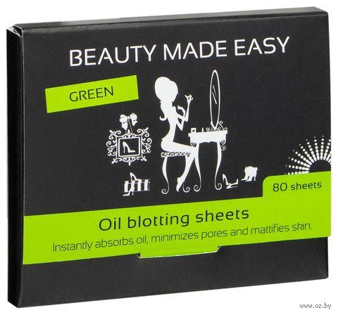 """Матирующие бумажные салфетки """"Зеленые"""" (80 шт.) — фото, картинка"""