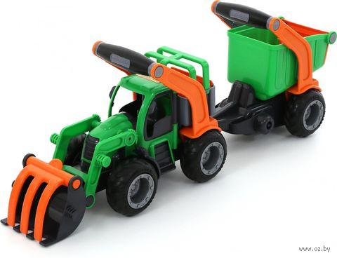 """Трактор-погрузчик с полуприцепом """"ГрипТрак"""""""