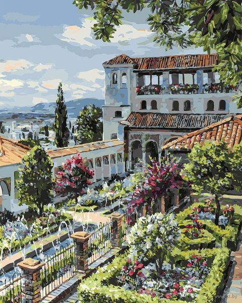"Картина по номерам ""Сады Гранады"" (400х500 мм) — фото, картинка"