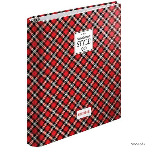 """Тетрадь со сменным блоком """"Шотландка"""" (120 листов) — фото, картинка"""