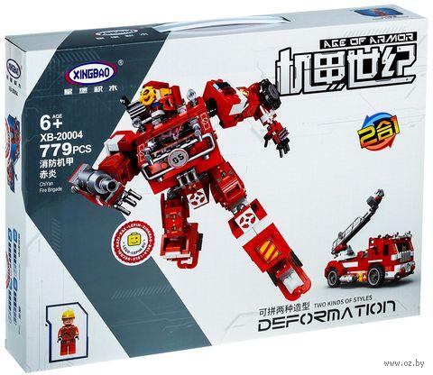 """Конструктор """"XingBao. Трансформер-пожарная машина 2 в 1"""" (779 деталей) — фото, картинка"""