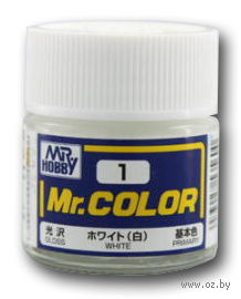 Краска Mr. Color (white, C1)