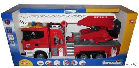 """Модель машины """"Пожарная машина Scania с модулем"""" (масштаб: 1/16) — фото, картинка"""