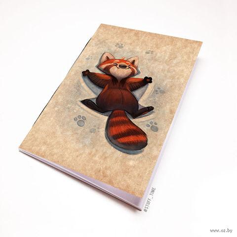 """Блокнот крафт """"Красная панда"""" (А5; арт. 968) — фото, картинка"""