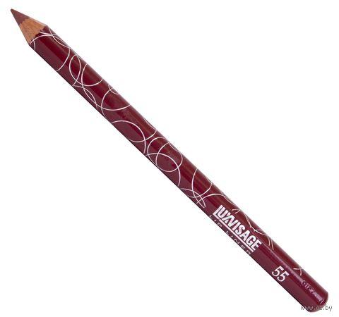 """Карандаш для губ """"LUXVISAGE"""" (тон: 55, коричнево-бордовый) — фото, картинка"""