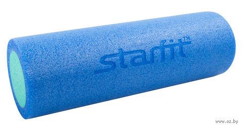 """Ролик для йоги и пилатеса """"FA-501"""" (15х45 см; синий/голубой) — фото, картинка"""