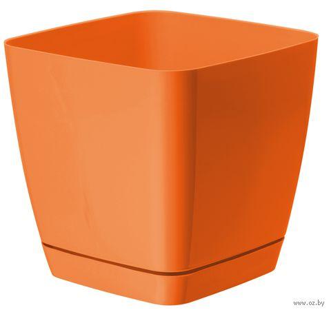 """Цветочный горшок """"Тоскана"""" (13х13х12,5 см; оранжевый) — фото, картинка"""