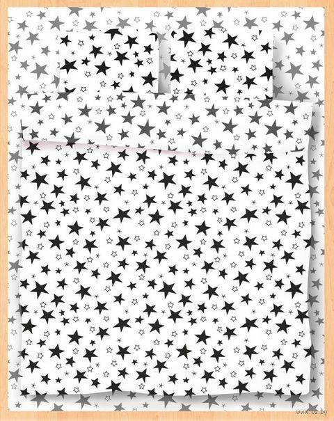 "Постельное белье ""Stars White"" (евро) — фото, картинка"