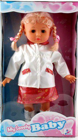 Кукла с косичками в панамке