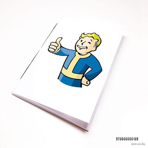 """Блокнот белый """"Fallout"""" А7 (109)"""