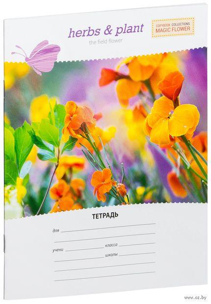 """Тетрадь в линейку 12 листов """"Цветы. Magic Flower"""""""