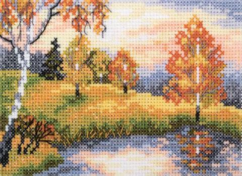 """Вышивка крестом """"Осенний лес"""""""