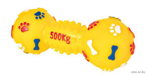 """Игрушка для собак с пищалкой """"Гантель"""" (15 см)"""