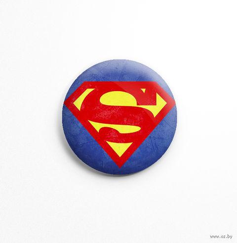 "Значок маленький ""Супермен"" (арт. 766) — фото, картинка"