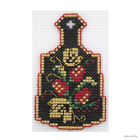 """Вышивка крестом """"Хохлома"""" (65х105 мм) — фото, картинка"""