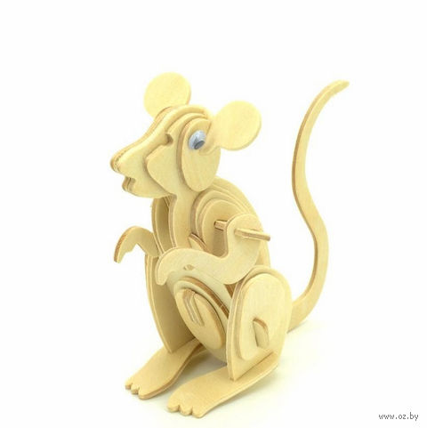 """Сборная деревянная модель """"Мышь"""""""