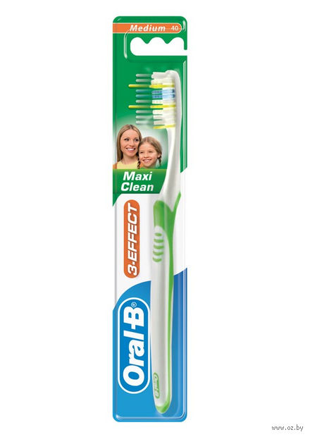 "Зубная щетка ""3 Effect Maxi Clean"" (40, средней жесткости)"