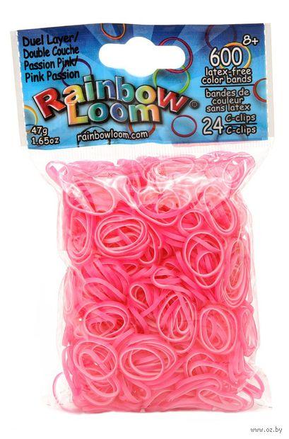 """Набор резиночек для плетения """"Rainbow Loom. Перламутр. Пылкий розовый"""""""