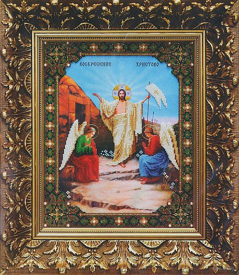 """Вышивка бисером """"Икона Воскресение Христово"""""""