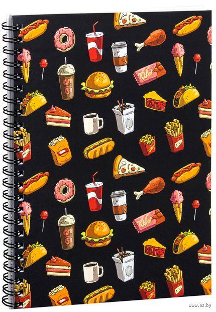 """Блокнот в клетку """"Fast food"""" A5 (1377)"""