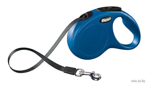 """Поводок-рулетка """"New Classic Compact"""" (до 15 кг; синий) — фото, картинка"""