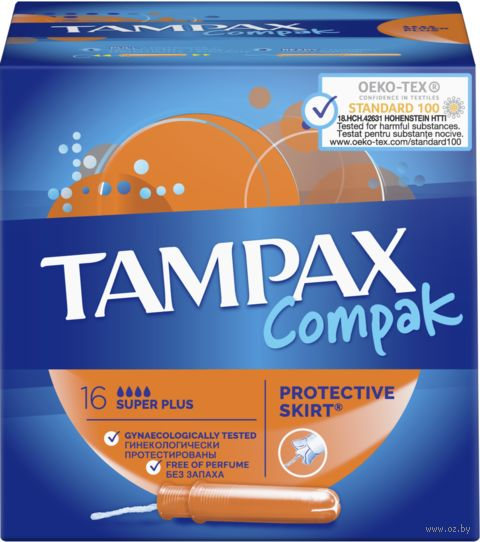"Тампоны ""TAMPAX. Compak Super Plus"" (16 шт)"