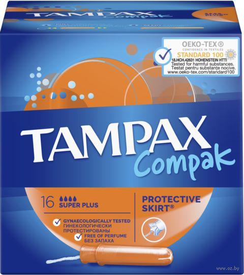 "Тампоны ""TAMPAX. Compak Super Plus"" (16 шт.) — фото, картинка"