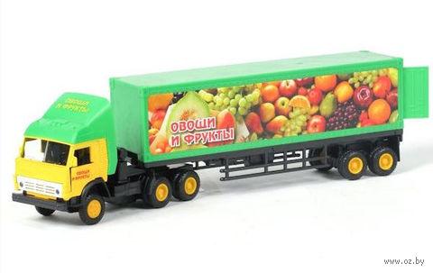 """Модель машины """"Камаз. Овощи и фрукты"""" (масштаб: 1/43)"""