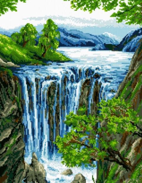 "Алмазная вышивка-мозаика ""Водопад"""