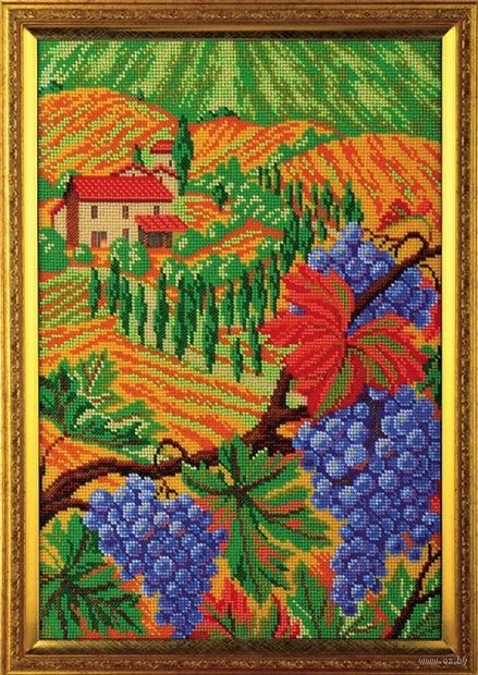 "Вышивка бисером ""Холмы Тосканы"" (260х380 мм) — фото, картинка"