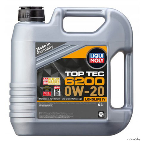 "Масло моторное ""Top Tec 6200"" 0W-20 (4 л) — фото, картинка"