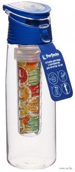 Бутылка для воды (750 мл; синяя) — фото, картинка