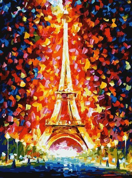 """Картина по номерам """"Париж - огни Эйфелевой башни"""" (300х400 мм) — фото, картинка"""