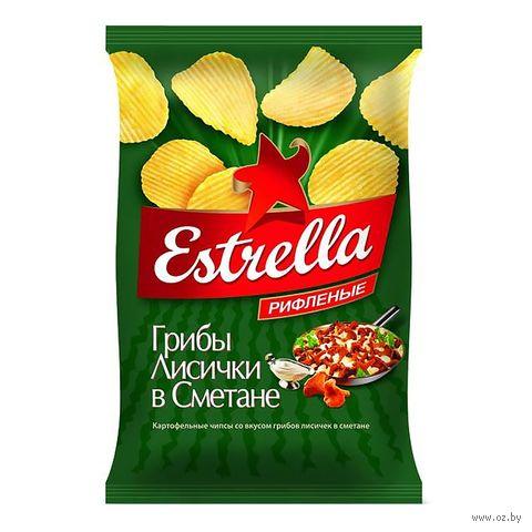 """Чипсы картофельные """"Estrella. Лисички в сметане"""" (125 г) — фото, картинка"""