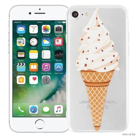 """Чехол для iPhone 7/8 """"Рожок мороженого"""" (прозрачный) — фото, картинка"""