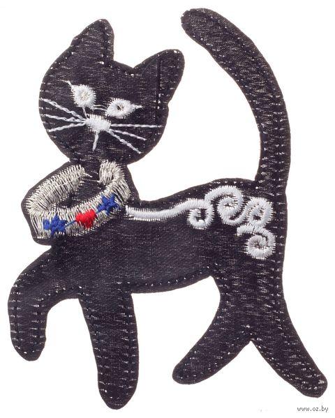 """Термоаппликация """"Кошка в ошейнике"""" — фото, картинка"""