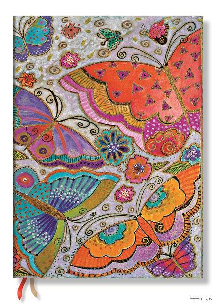 "Записная книжка Paperblanks ""Бабочки"" нелинованная (формат: 70*90 мм, микро)"