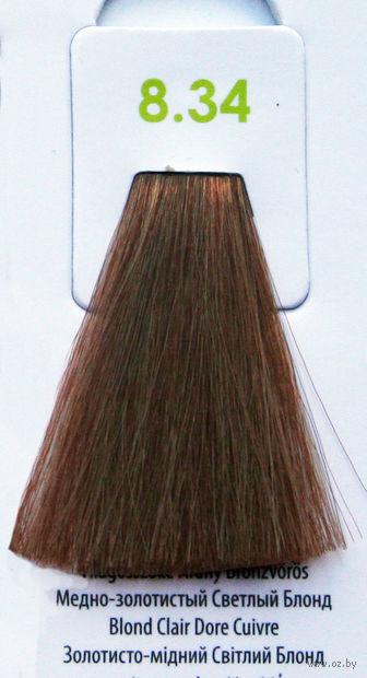 """Крем-краска для волос без аммиака """"Nouvelle"""" (тон: 8.34, золотисто-медный светлый блонд) — фото, картинка"""